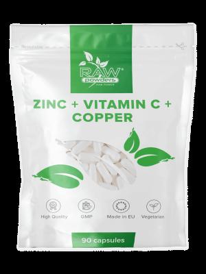 Cinkas + Vitaminas C + Varis (90 kapsulių)