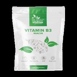 Niacinas (Vitaminas B3) (500 mg 60 kapsulių)