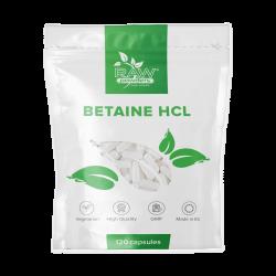 Betainas HCL (650 mg 120 kapsulių)