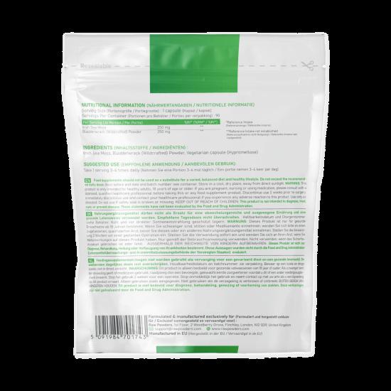 Sea Moss 250 mg & Bladderwrack 250 mg (90 kapsulių)